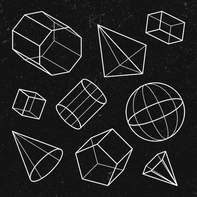 3d geometrische vormenset