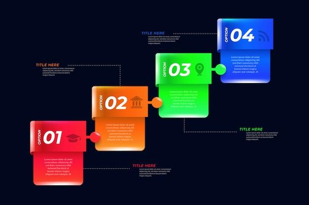 3d-glanzende infographic sjabloon