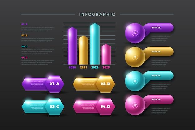 3d-glanzende infographic