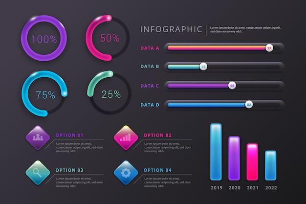 3d-glanzende infographics concept