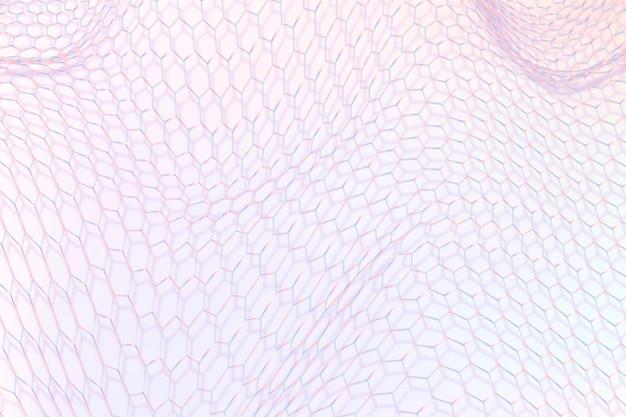 3d-golfpatroon met paars patroon