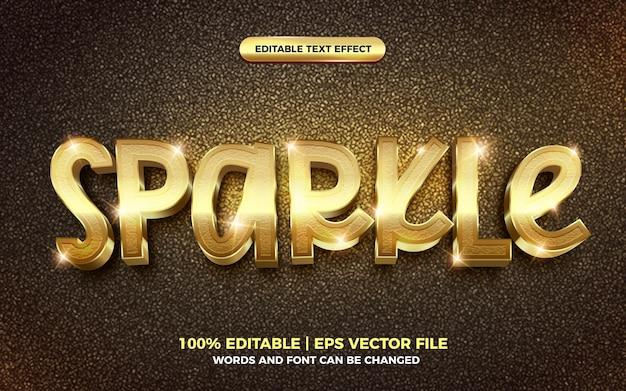 3d gouden fonkeling tekststijl effect sjabloon bewerkbaar