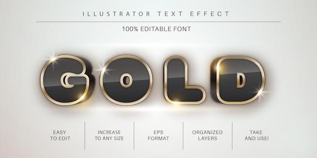 3d-gouden lijnteksteffect, tekenstijl Premium Vector