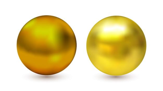 3d-gouden metalen bol