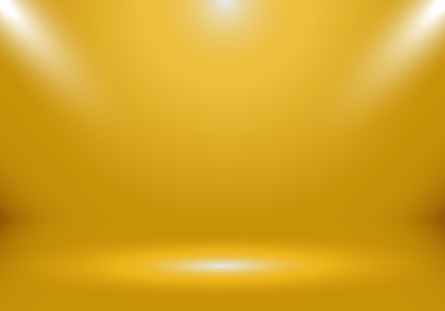 3d-gouden studio achtergrond