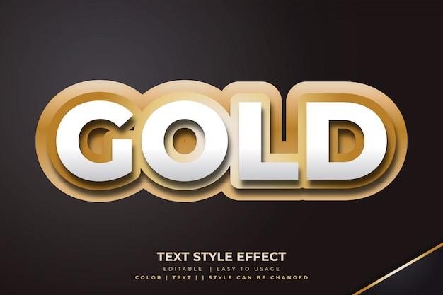 3d-gouden vetgedrukte tekststijleffect met papier gesneden stijl