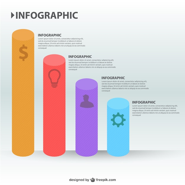 3d-grafiek bars infographics