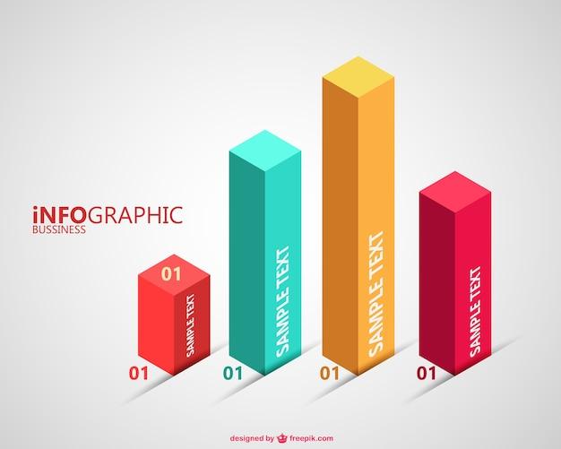 3d-grafiek gratis vector