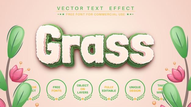 3d-gras bewerk teksteffect lettertypestijl