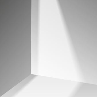 3d-grijze fase achtergrond product showcase display podium scène met zachte schaduw. vector illustratie