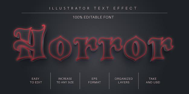 3d horror tekststijl, lettertype-effect