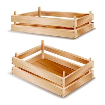 3d houten doos