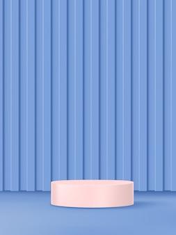 3d illustratie pastelkleuren abstracte studio shot product display achtergrond