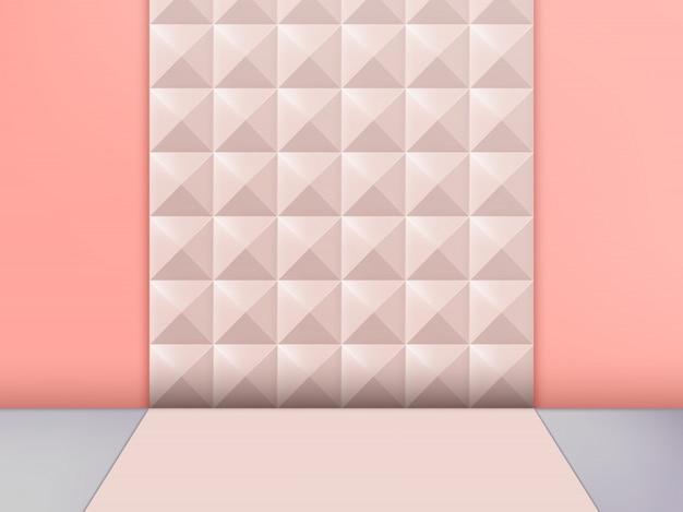 3d illustratie trendy studio shot pastel klinknagel achtergrond, roze.