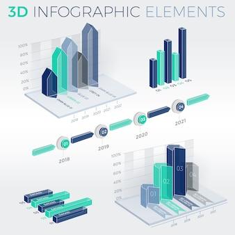 3d infographic-elementen