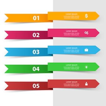 3d-infographic ontwerpsjabloon en marketing pictogrammen