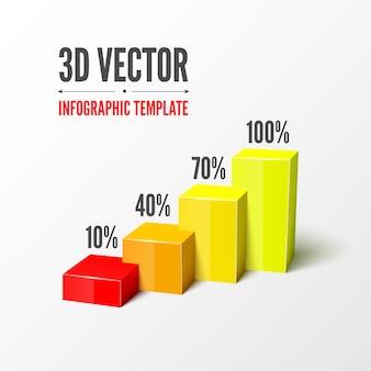 3d infographic sjabloon