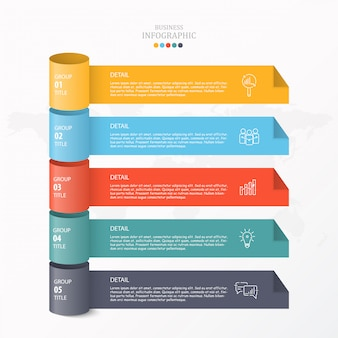 3d-infographic voor zakelijke en procesgrafiek.
