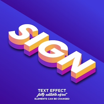3d isometrisch lettertype-effect