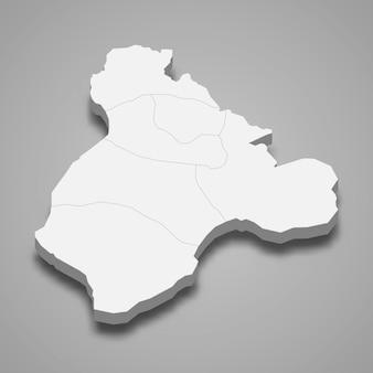 3d isometrische kaart van ardahan is een provincie van turkije