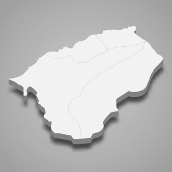 3d isometrische kaart van bartin is een provincie van turkije