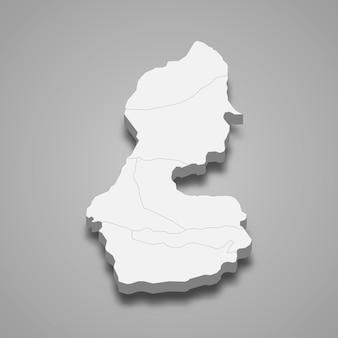 3d isometrische kaart van batman is een provincie van turkije