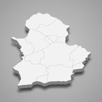 3d isometrische kaart van corum is een provincie van turkije