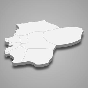 3d isometrische kaart van duzce is een provincie van turkije