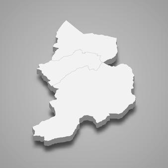 3d isometrische kaart van glarus is een kanton van zwitserland