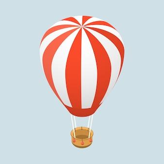 3d isometrische platte concept van luchtballon