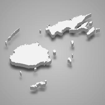 3d-kaart met randen