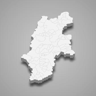 3d-kaart prefectuur van japan