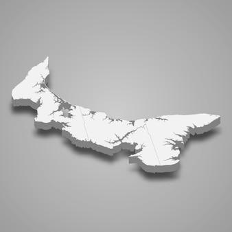 3d-kaart provincie van canada