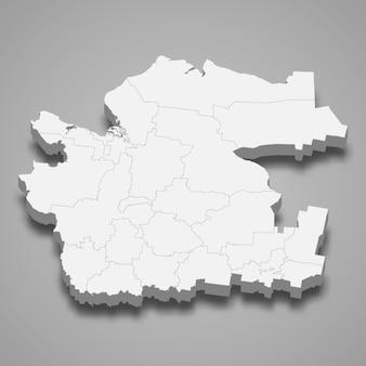3d-kaart regio van rusland
