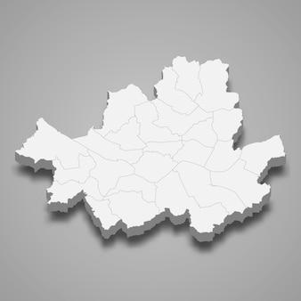 3d-kaart regio van zuid-korea