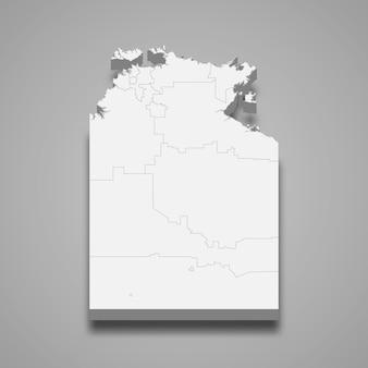 3d-kaart staat van australië