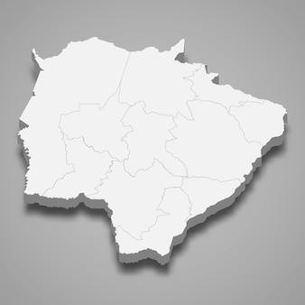 3d-kaart staat van brazilië
