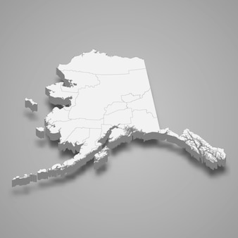3d-kaart staat van verenigde staten