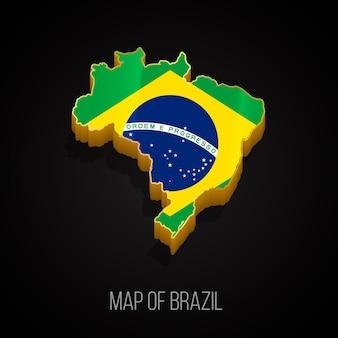 3d-kaart van brazilië