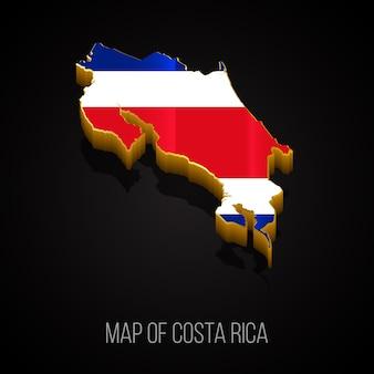 3d-kaart van costa rica