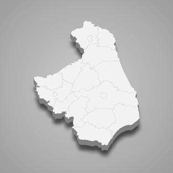 3d-kaart van de provincie podlaskie van polen illustratie