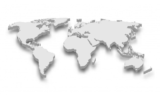 3d-kaart van de wereld