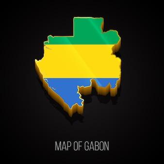 3d-kaart van gabon