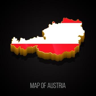 3d-kaart van oostenrijk