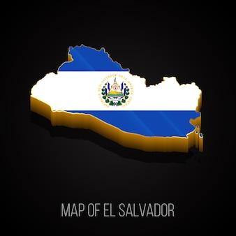3d-kaart van salvador