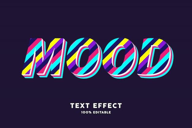 3d kleurrijk teksteffect van streeplijnen