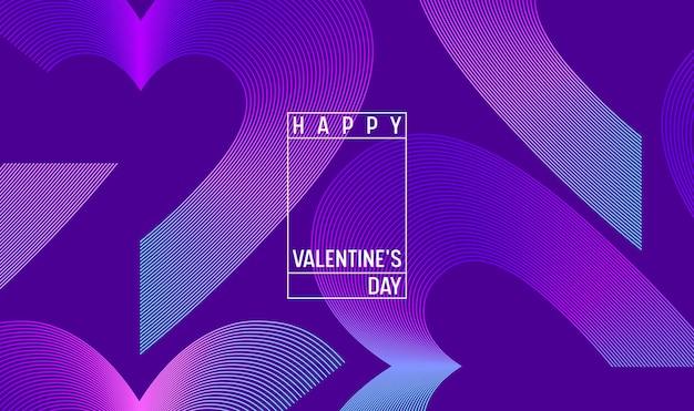 3d kleurrijke harten voor happy valentines day hand getrokken belettering ontwerp, liefde kaart vectorillustratie, bruiloft partij flyer of poster