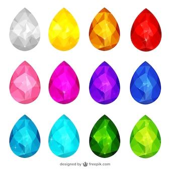 3d kleurrijke juwelen