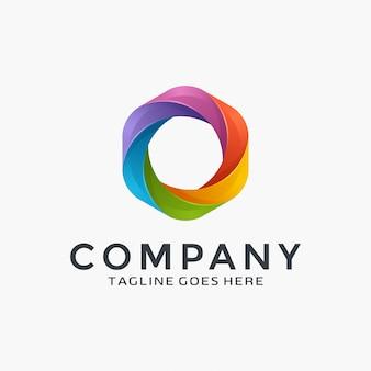 3d kleurrijke logo-ontwerp