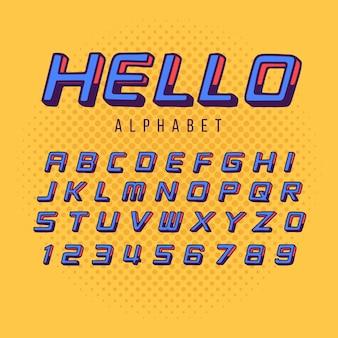 3d-komische alfabet